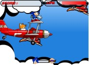 Sonic-and-his-airplane-in-the-sky